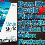 Sony Movie Studio Platinum v13.0.942 [Edicion De Video Y Creacion De DVD]